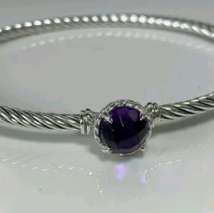 DAVID YURMAN 925 SS Chatelaine Amethyst Bracelet